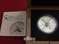 2016 Cook Islands Magnificent Life Wasp Spider silver coin case and COA