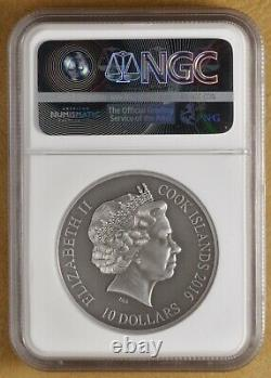 2016 Cook Islands Silver $10 Norse Gods Sif NGC MS 70 Antiqued