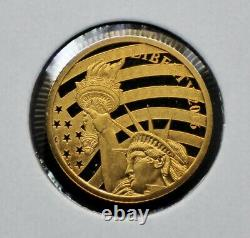 2016 Cook Islands Statue of Liberty 1/10oz. 24 Fine Gold Coin 110DUD