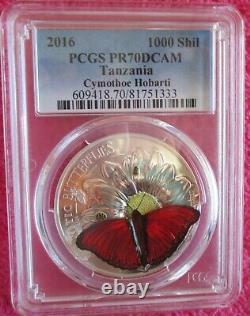 2016, Exotic Butterlies 3d Pcgs, Pr-70 Dcam, 1 Oz. Silver, 2500 Minted, Rare