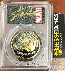 2017 $200 Gold Spiderman Homecoming Pcgs Pr70 First Day Issue Stan Lee Signed