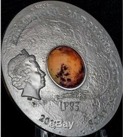 2017 3 Oz Silver $20 MARS THE RED PLANET METEORITE Coin