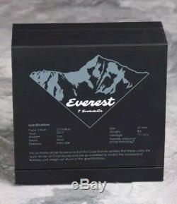 2017 5 Oz HIGH RELIEF Silver MT. EVEREST The Seven Summits Coin