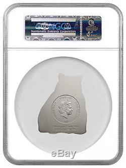 2017 Cook Isl $20 88g HR Antiqued Silver Lucky Panda Shaped NGC MS69 ER SKU45021