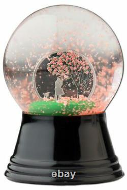 2017 Cook Islands $1 Cherry Blossom Snow Globe 1/10oz Silver Coin ONLY 2,017