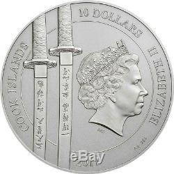 2017 Cook Islands 2 Ounce Yi Soon Shin Sun Sin Silver Proof Coin Set