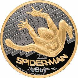 2017 Cook Islands Gold $200 Spider-Man Homecoming PR70 DCAM FDOI PCGS Coin