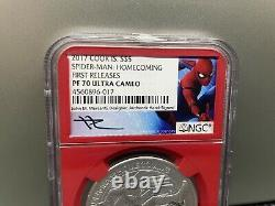 2017 Cook Islands Marvel Spider Man Homecoming NGC PF70 MERCANTI FIRST RELEASES