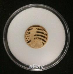 2017 Cook Islands Peace Liberty $5 1/10th oz. 24 Fine Gold Coin