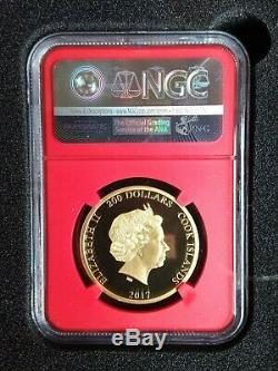 2017 Cook Islands Spider-man $200 Gold 1 Oz Ngc Pf 70 First Stan Lee Auto #/250