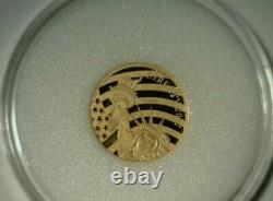 2017 GOLD COOK ISLANDS 1/10th oz (24%) PURE LIBERTY BELL GOLD COIN! Rare