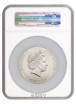 2017 NGC MS 70 Cook Islands 7 Summits Everest 5oz Silver Colorized $25