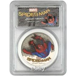 2017 SpiderMan Homecoming 1oz. 999 Black Proof Silver Coin PCGS PR-70 DCAM