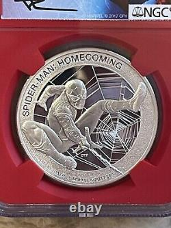 2017 cook island spider-man homecoming ngc pf70 ultra cameo silver coin
