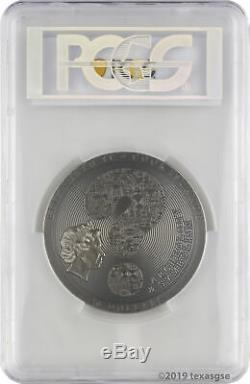 2018 $20 Cook Islands Aztec Calendar Stone 3oz Silver Antiqued Coin PCGS MS70 FD