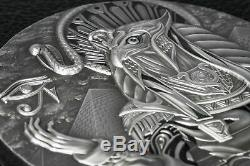 2018 $20 Cook Islands Ra Sun God 3oz. 999 Silver Antiqued Coin