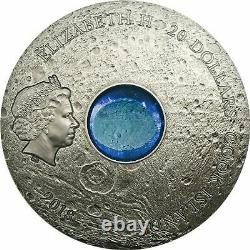 2018 $20 Cook Islands VESTA 3oz 999 Silver Coin withREAL Asteroid piece inset