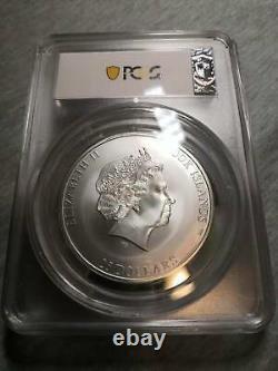 2018 $25 Cook Islands 7 Summits Kilimanjaro 5oz. 999 Silver Coin PCGS MS70 FD