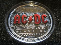 2018 AC/DC Black Ice $10 Dollars BLACK PROOF Coin Cook Islands 2 oz RARE