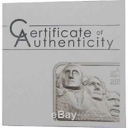 2018 Cook Islands $10 Liberty Bar Collection Mount Rushmore 2 oz. 999 Silver Bar