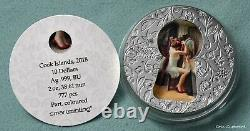 2018 Cook Islands $10 Little Secrets 2 oz. 999 silver coin withOMP