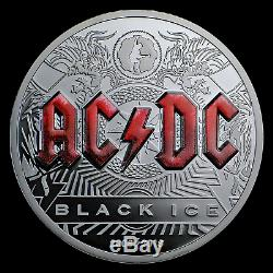 2018 Cook Islands 2 oz Silver AC/DC Black Ice Proof SKU#177524