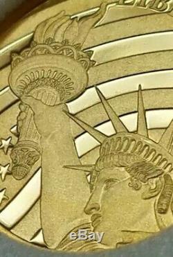 2018 Cook Islands $5 Gold Coin US Liberty 1/2 Oz. 24
