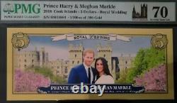 2018, Cook Islands, $5, Real Gold, Royal Wedding, 70 Grade, PERFECT