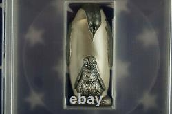 2018 Cook Islands Emperor Penguin 88g. 999 Silver Antique Finish PCGS MS69 + COA