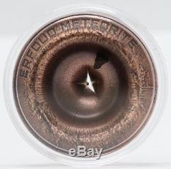 2018 Cook Islands Erfoud Meteorite Silver $2 Coin in OGP JB540