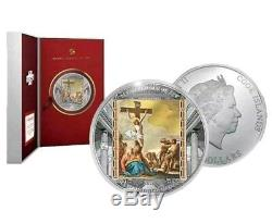 2018 Cook Islands Masterpieces Easter Edition Colorized 3oz Proof Box & COA