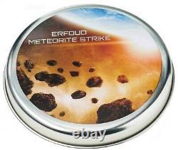 2018 Cook Islands S$2 Erfoud Meteorite Silver CU-Plated FR NGC MS70 Antiqued OGP
