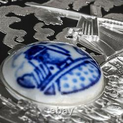 2018 Cook Islands Silver Royal Delft Land of Water Windmill SKU#160114