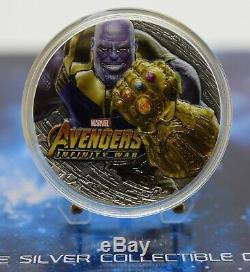 2018 Fiji Marvel Avengers Infinity War Thanos 2 Oz coin