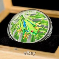 2018 Magnificent Life Tree Frog 1-oz. 999 Silver Colorized Coin$108.88