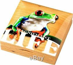 2018 Magnificent Life Tree Frog Pcgs Pr 70 Dcam Colorized Coin$138.88