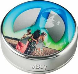 2018 Summer Of Love Peace 1-oz. 999 Silver Colorized Proof Coin $108.88