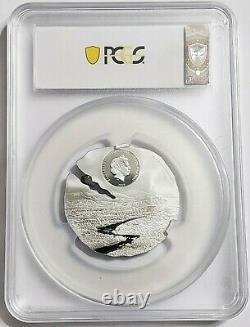 2019 1/2 Oz Silver $2 Cook Islands ESTACADO METEORITE Titanium MS70 FDOI Coin