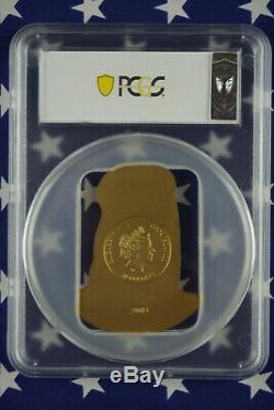 2019 $10 Cook Islands Klimt 2oz Gilded. 999 Silver Coin PCGS MS69 FDI COA + Box