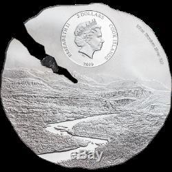 2019 $2 Cook Islands Estacado Meteorite Titanium Silver Coin