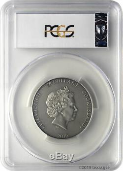 2019 $20 Cook Islands Poseidon HR 3oz. 999 Silver Antiqued Coin PCGS MS70 FD