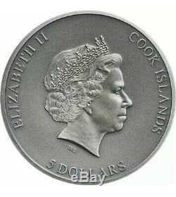 2019 2020 1ST COIN Cook Islands TRAPPED 1 oz 999 Silver Coin With BOX COA Ebux