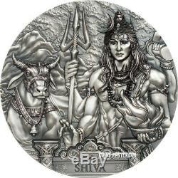 2019 3 Oz Silver $20 Cook Island SHIVA Coin