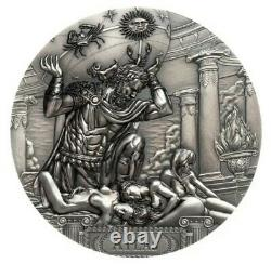 2019 3 Oz Silver $20 Cook Islands ATLAS Titans MS70 First Day Of Issue Coin