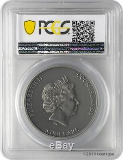 2019 $5 Cook Islands Trapped 1 oz. 999 Silver Coin PCGS MS70 FD