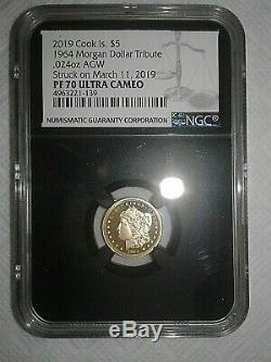2019 Cook Islands 1/10 OZ Gold Proof Coin. 24 (24%) Not. 999 Gold NGC PF70