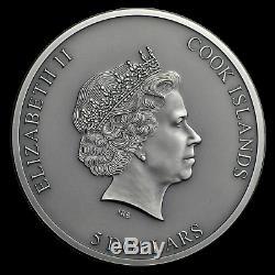 2019 Cook Islands 1 oz Antique Silver Trapped SKU#188083