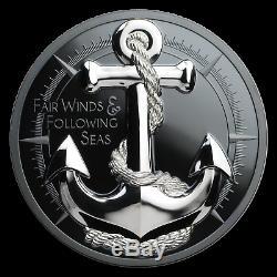 2019 Cook Islands 2 oz Silver Fair Winds (Anchor) SKU#188070