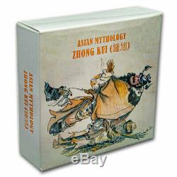 2019 Cook Islands 3 oz Antique Silver Asian Mythology Zhong Kui SKU#200469