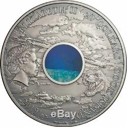 2019 Cook Islands 3 oz Chicxulub Crater Meteorite High Relief Silver Coin